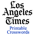 Los Angeles Times Printable Crossword Puzzles
