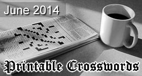 June 2014 Printable Crosswords