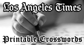 Printable LA Times Crosswords for March 2016