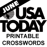 Slobbery image within usa today printable crossword