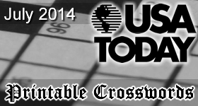 Printable Usa Today Crosswords For July 2014